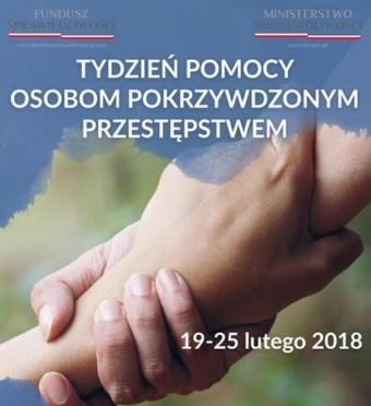 plakat zachęcający do skorzystania z pomocy w ramach tygodnia pomocy pokrzywdzonym przestępstwem