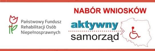 aktywny samorząd i logo PFRON