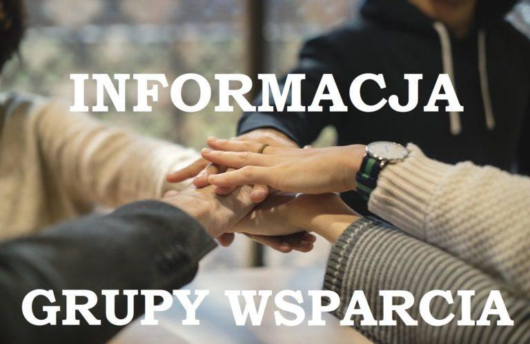 Informacja dot. grup wsparcia