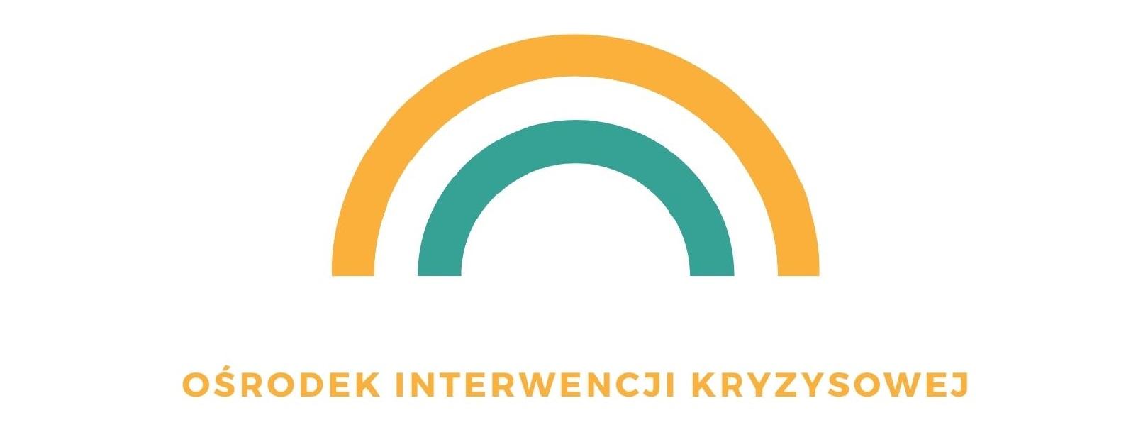 Plakat i logo Ośrodka Interwencji Kryzysowej w NOwym Sączu