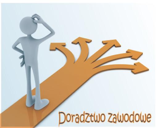 Logo doradztwa zawodowego w Powiatowym Centrum Pomocy Rodzinie w Limanowej