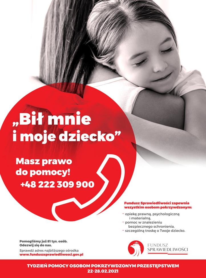Informacja o obchodach Tydzień Pomocy Osobom Pokrzywdzonym Przestępstwem.