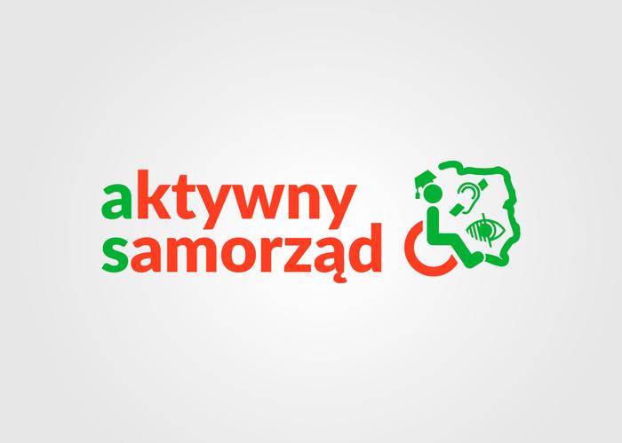 Logo Aktywny samorząd_w kolorze czerwonym i zielonym