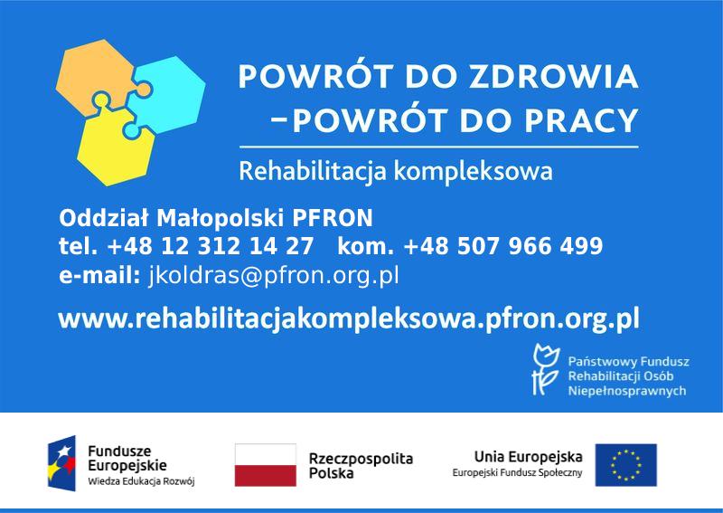 Plakat programu PFRON Powrót do zdrowia-powrót do pracy